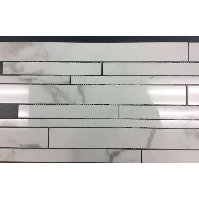 Linear Mosaic Glass Tile Tile Design Ideas