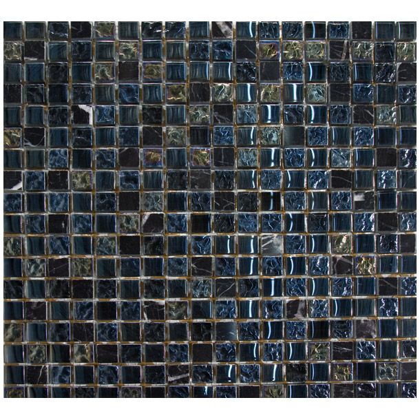 Hgs1515 12 X Inch Sheet With Mixed 5 8 Chips Metallic Gl And Polished Marble Suitable For Backsplash Shower Tub