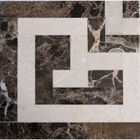 CREMA4X4: CREMA MARFIL ENGINEERED STONE BORDER. CORNER