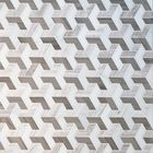 GL-3D1501: POLISHED GREY WOOD, ATHENAS DARK GREY, AND DANBA WHITE MARBLE IN 3D EFFECT MOSAIC SHEET