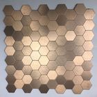 GL-AH001: HONEYCOMB BRONZE ALUMINUM MOSAIC PEEL AND STICK