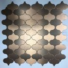 GL-AL003: MOROCCAN STYLE CHROME ALUMINUM MOSAIC PEEL AND STICK
