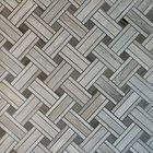 GL-BA2402G: BASKET-WEAVE GREY WOOD MARBLE WITH ATHENAS GREY MARBLE INSERTS WITH A POLISHED FINISH