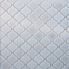 GL-C320: ARABESQUE ELEGANT STYLE CREAM COLOURED CRACKLED GLASS