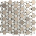 GL-DHEX203: KALEIDOSCOPE GLASS MOSAIC WITH LIGHT BROWN INSERTS