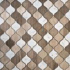 GL-DL203: POLISHED BIANCO CARRARA WOOD GREY AND ATHENS GREY MARBLE LANTERN MOSAIC TILE
