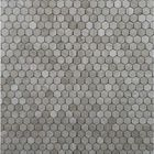 GL-HE2303: GREY WOOD MARBLE HEXAGON POLISHED MOSAIC