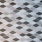GL-HL003: POLISHED WOOD GREY, ATHENAS DARK GREY AND DANBA WHITE MARBLE WAVE MOSAIC TILE