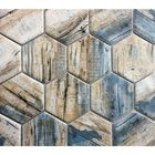 GL-MP685: DRIFTWOOD MULTI COLOR  HEXAGON RECYCLED GLASS MOSAIC