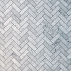 GL-RZ1301: BIANCO CARRARA POLISHED HERRINGBONE PATTERN MOSAIC