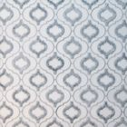GL-WJ027: GREY AND WHITE MARBLE ARABESQUE STYLE WATER JET CUT MOSAIC TILES