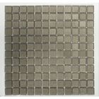 ML-234: CHARCOAL COLORED, SMOKY GLASS TILES IN CHECKERBOARD PATTERN. IDEAL FOR KITCHEN AND BATHROOM ATMOSPHERES. SEE ML734 FOR SIMILAR TILE